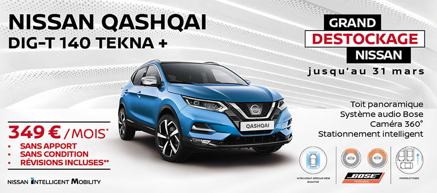 Grand Destockage Nissan Qashqai Tekna