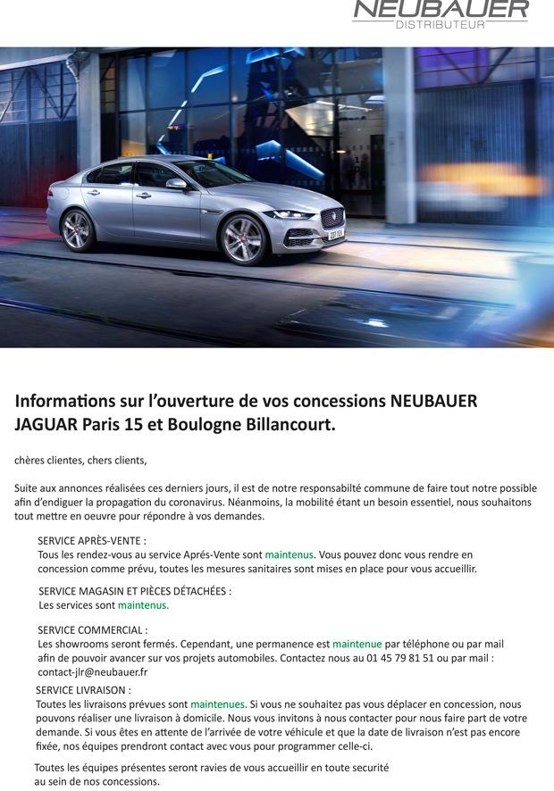 Mesures COVID-19 Jaguar