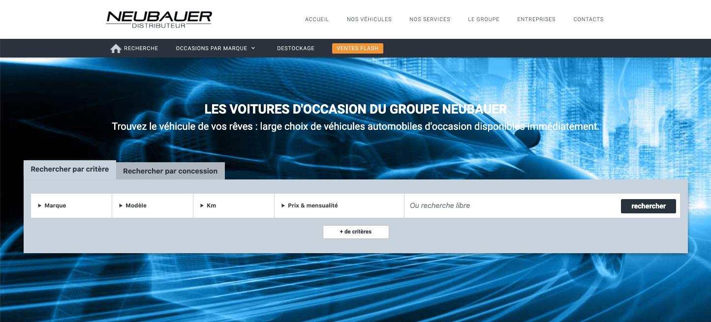 Achat occasions multimarques : NEUBAUER lance son site dédié !
